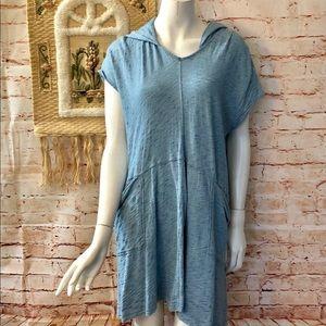 Saturday Sunday S Blue Anya Dress Lagenlook Hooded